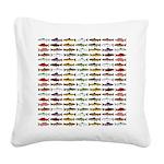 14 Trout and Salmon Pattern cp Square Canvas Pillo