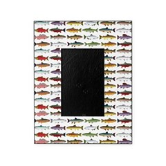 14 Trout and Salmon Pattern cp Picture Frame