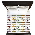 14 Trout and Salmon Pattern cp King Duvet