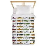 14 Trout and Salmon Pattern cp Twin Duvet