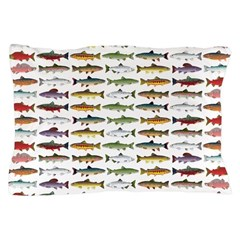 14 Trout and Salmon Pattern cp Pillow Case