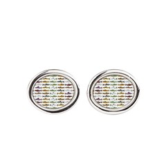 14 Trout and Salmon Pattern cp Oval Cufflinks