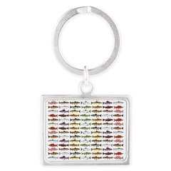 14 Trout and Salmon Pattern cp Keychains