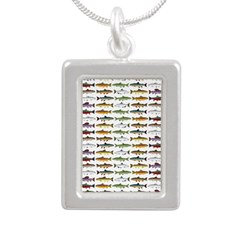 14 Trout and Salmon Pattern cp Necklaces