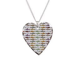 14 Trout and Salmon Pattern cp Necklace