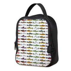 14 Trout and Salmon Pattern cp Neoprene Lunch Bag