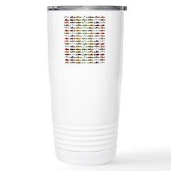 14 Trout and Salmon Pattern cp Travel Mug