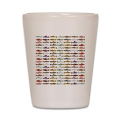14 Trout and Salmon Pattern cp Shot Glass