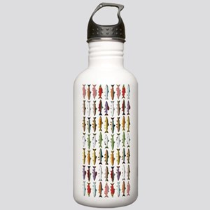14 Trout and Salmon Pattern cp Water Bottle