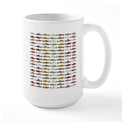 14 Trout and Salmon Pattern cp Mugs