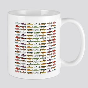 14 Trout and Salmon Pattern cp Mugs