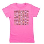 14 Trout and Salmon Pattern cp Girl's Tee