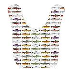 14 Trout and Salmon Pattern cp Bib