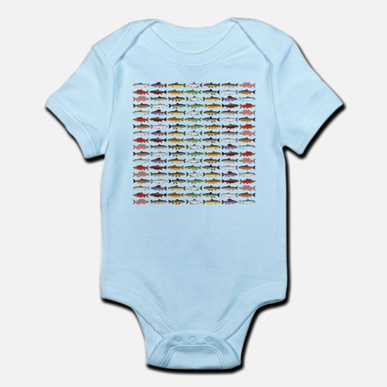 14 Trout and Salmon Pattern cp Body Suit