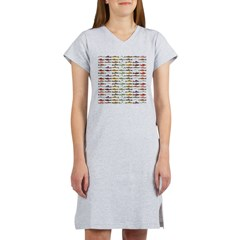 14 Trout and Salmon Pattern cp Women's Nightshirt