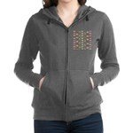 14 Trout and Salmon Pattern cp Women's Zip Hoodie