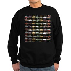 14 Trout and Salmon Pattern cp Sweatshirt