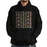 14 Trout and Salmon Pattern cp Hoodie