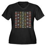 14 Trout and Salmon Pattern cp Plus Size T-Shirt