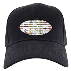 14 Trout and Salmon Pattern cp Baseball Hat