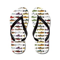 14 Trout and Salmon Pattern cp Flip Flops