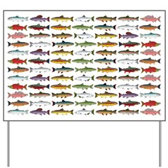 14 Trout and Salmon Pattern cp Yard Sign