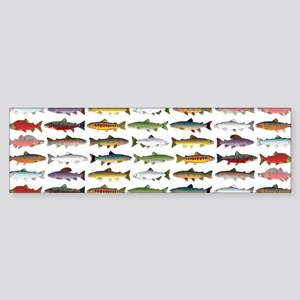 14 Trout and Salmon Pattern cp Bumper Sticker