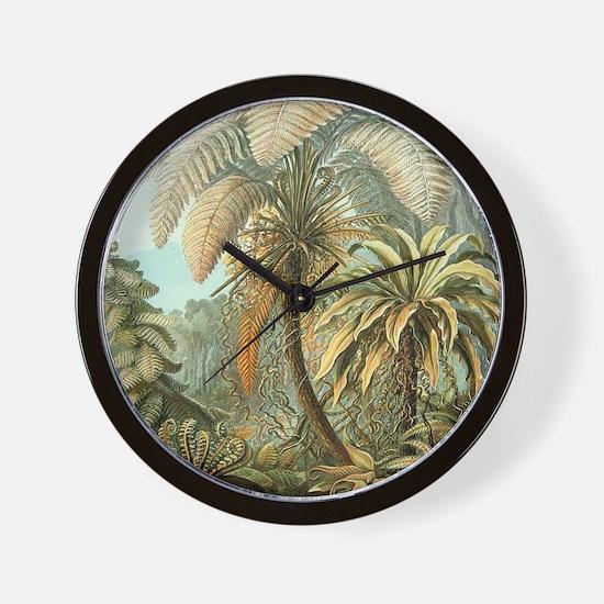 Vintage Tropical Palm Wall Clock