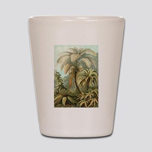 Vintage Tropical Palm Shot Glass