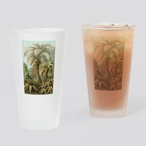 Vintage Tropical Palm Drinking Glass