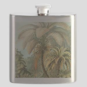 Vintage Tropical Palm Flask