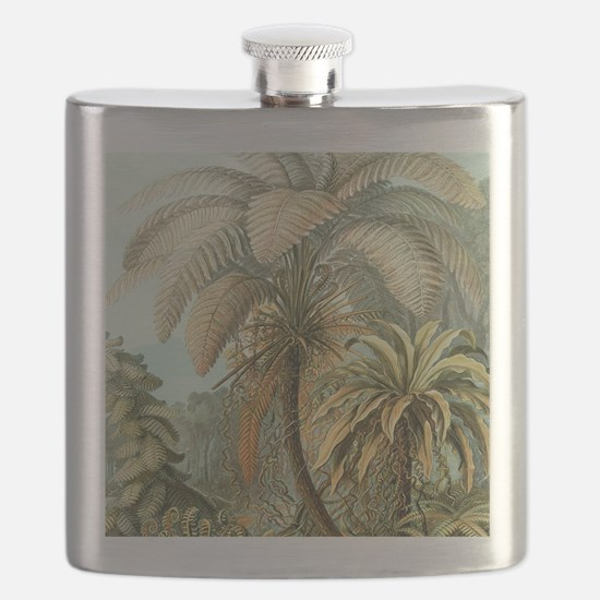 Vintage Tropical Palm Flask