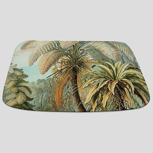Vintage Tropical Palm Bathmat