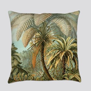 Vintage Tropical Palm Everyday Pillow