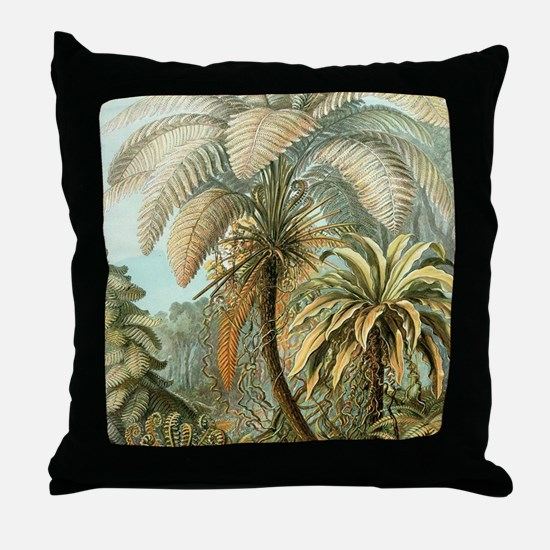 Vintage Tropical Palm Throw Pillow