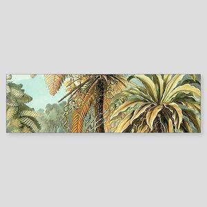 Vintage Tropical Palm Bumper Sticker