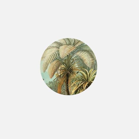 Vintage Tropical Palm Mini Button
