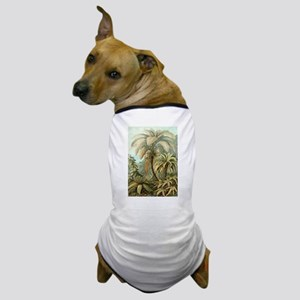 Vintage Tropical Palm Dog T-Shirt