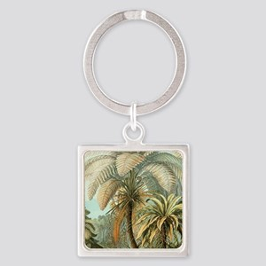 Vintage Tropical Palm Keychains