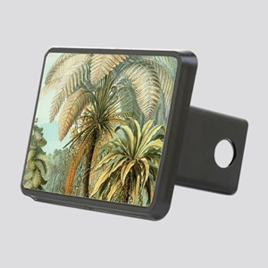 Vintage Tropical Palm Rectangular Hitch Cover