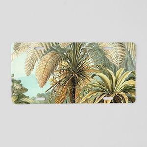 Vintage Tropical Palm Aluminum License Plate