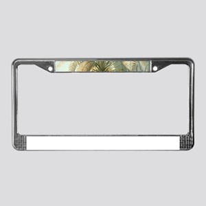 Vintage Tropical Palm License Plate Frame