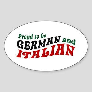 German Italian Oval Sticker