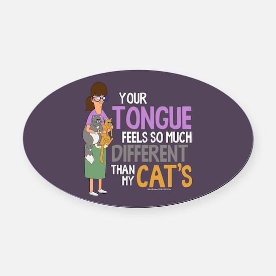 Bob's Burgers Gayle Cats Oval Car Magnet