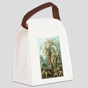 Vintage Tropical Palm Canvas Lunch Bag