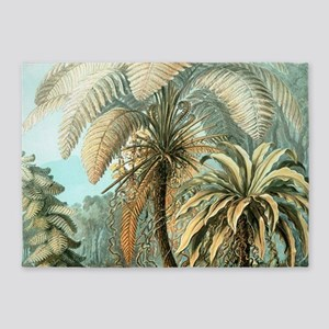 Vintage Tropical Palm 5'x7'Area Rug