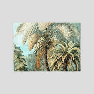 Vintage Tropical Palm 5'x7'Area Rug
