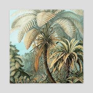 Vintage Tropical Palm Queen Duvet