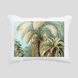 Vintage Tropical Palm Rectangular Canvas Pillow