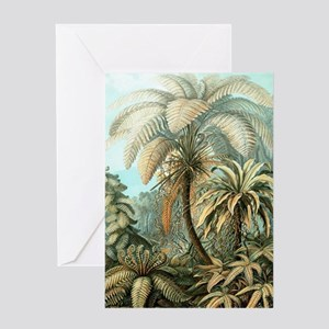 Vintage Tropical Palm Greeting Cards